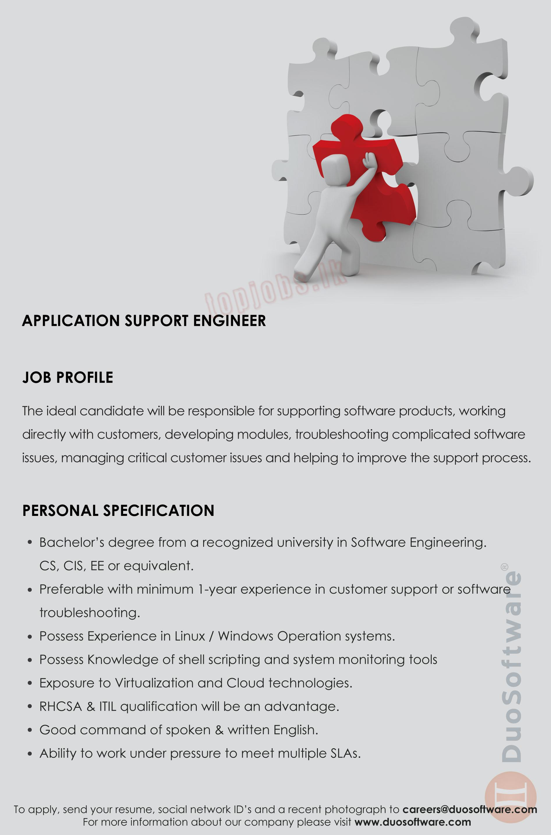 application support job description - Vatoz.atozdevelopment.co