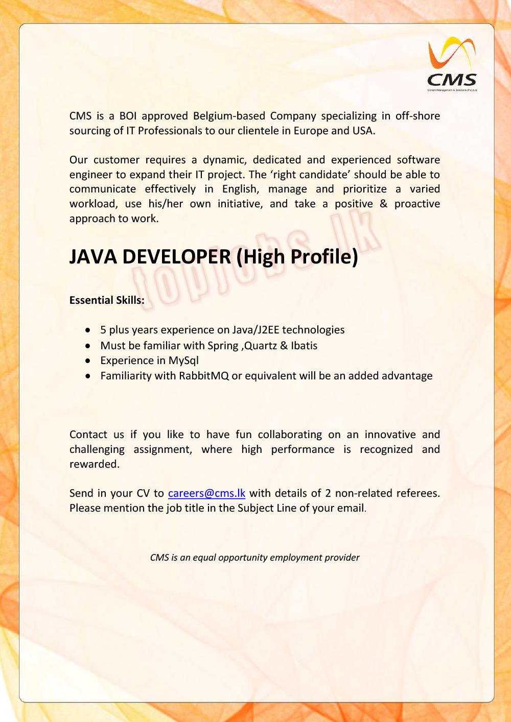 Vacancy Advertisement